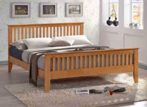 Time Living Turin Honey Oak Bed Frame - King Size (5' x 6'6