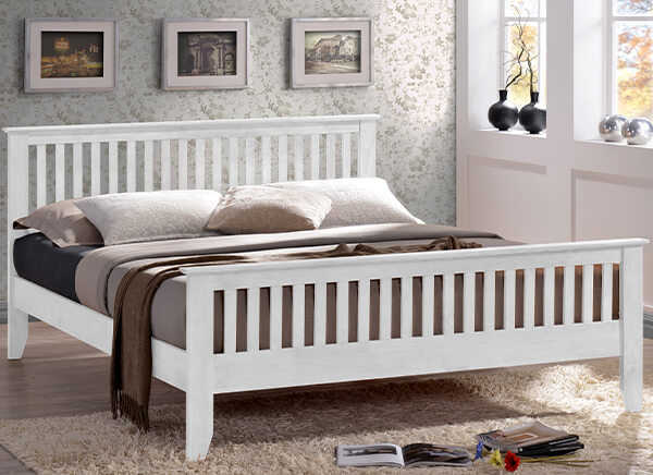 Time Living Turin White Bed Frame - Single (3' x 6'3