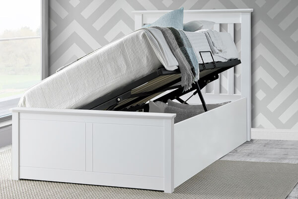 Bedmaster Francis White Ottoman Bed