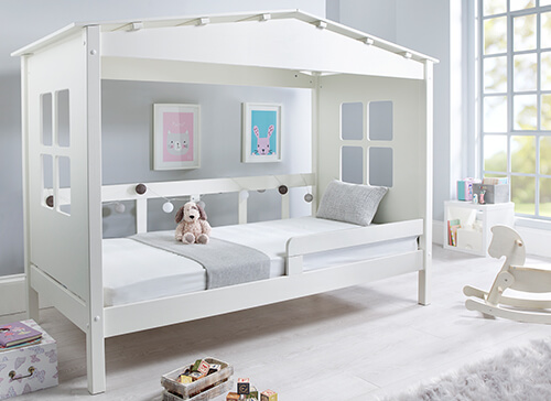 Bedmaster Mento White Treehouse Bed - Single (3' x 6'3