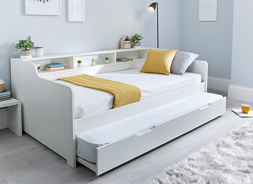 Bedmaster Tyler White Guest Bed - Single (3' x 6'3