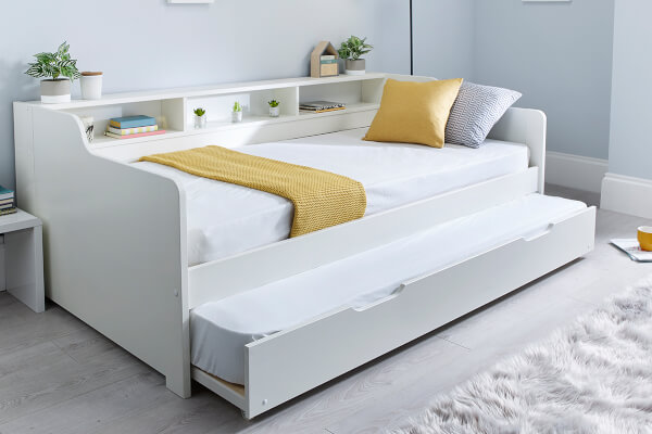 Bedmaster Tyler White Guest Bed