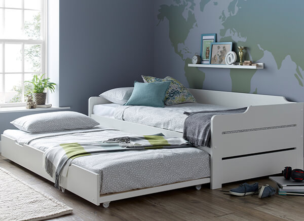 Bedmaster Copella White Guest Bed - Single (3' x 6'3