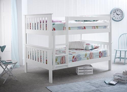 Bedmaster Oslo White Quadruple Bunk Bed - Small Double (4' x 6'3