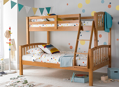 Bedmaster Mya Pine Triple Sleeper Bed - Small Double (4' x 6'3