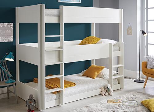 Bedmaster Snowdon Three Tier Bunk Bed - Single (3' x 6'3