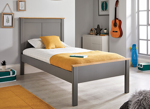 Bedmaster Vigo Grey Bed - Double (4'6