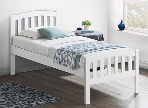 Bedmaster White Lyon Bed Frame - Single (3' x 6'3