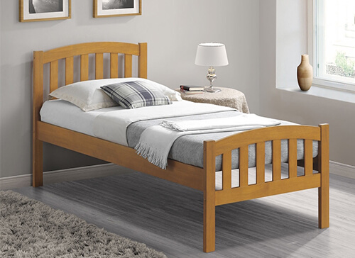 Bedmaster Oak Lyon Bed Frame - Single (3' x 6'3