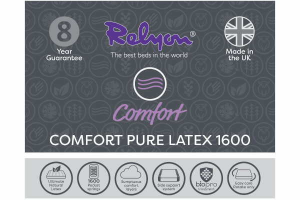 Relyon Comfort Pure Latex 1600 Mattress