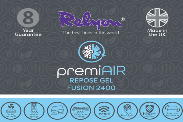 Relyon PremiAIR Repose Gel Fusion 2400 Mattress