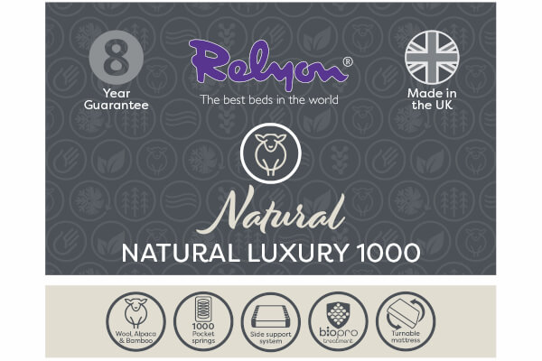 Relyon Natural Luxury 1000 Divan Bed Set