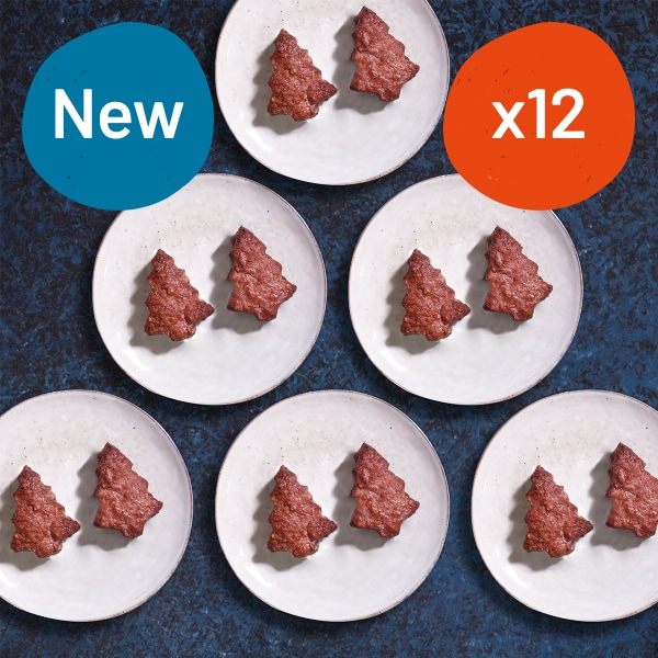 Free Range Christmas Tree Burgers - 12 x 57g
