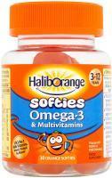 Haliborange Kids Omega-3 and Multivitamin Orange Softies, 30-Count