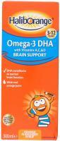 Haliborange Omega-3 Dha Brain Support Orange Flavoured Syrup 3-12 Years, 300 ml