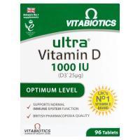 Vitabiotics | Ultra Vitamin D3 1000IU Tablets | 1 x 96s