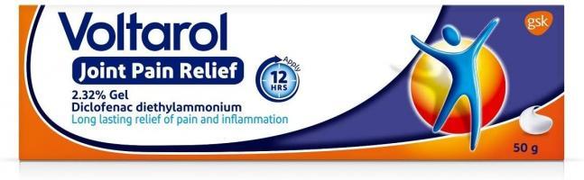 Voltarol Pain Relief Gel, 12 Hour Joint Pain Relief - Gel, 50 g