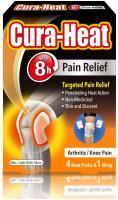 Cura-Heat Arthritis Pain for Knee 4 Heat packs and 1 Wrap