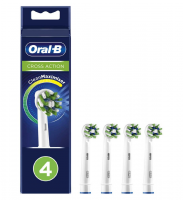 Oral-B CrossAction Toothbrush Head with CleanMaximiser Technology, 4 Pack