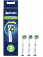 Oral-B CrossAction Refill Heads Removes More Plaque, Bristle Technology - 3 Pack