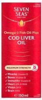 Seven Seas Cod Liver Oil Maximum Strength Liquid, 150ml