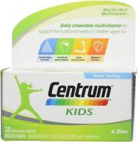 Centrum Kids Multivitamin Chewable, 30 Tablets