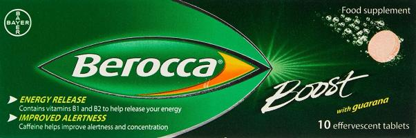 Berocca Boost Energy Vitamin, 10 Tablets