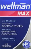 Wellman Max Omega 3-6-9 & Calcium & Vitamin D Tablets 84S