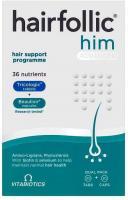 Vitabiotics Hairfollic Man Advanced Capsules, 60-Count