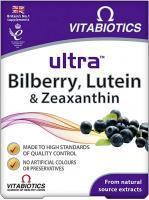 Vitabiotics Ultra Lutein  Bilberry & Zeaxanthin Tablets 30S