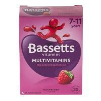 Bassett'S Multivitamin Pastilles 7-11Yrs Raspberry 30's