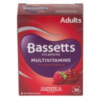 Bassett'S Multivitamin Pastilles Adult Raspberry & Pomegranate 30's