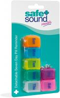 Safe and Sound Small 7 Day Pill Box, Detachable Pocket Sized Compartments, Flip-top Lids, Push-open Catch