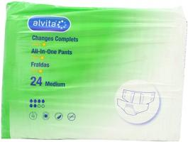 Alvita Incontinence Range All-In-One Pants Extra Day Medium 24S