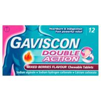 Gaviscon Double Action Chewable Tablets Mixed Berries 12