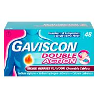 Gaviscon Double Action Chewable Tablets Mixed Berries 48