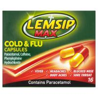 Lemsip Cold And Flu Max With Paracetamol Capsules 16S