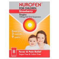 Nurofen For Children Sachets Strawberry 100mg/5ml 8S
