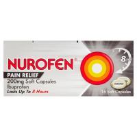 Nurofen Joint & Back Soft Capsules 200mg 16S