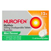 Nurofen Meltlets Mint Orodispersible Tablets 200mg 12