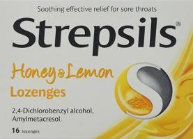 Strepsils Honey And Lemon Lozenges 16S