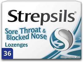 Strepsils Lozenges Sore Throat Blocked Nose 36S