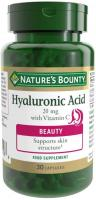 Nature's Bounty Hyaluronic Acid 20 mg with Vitamin C Capsules - Pack of 30