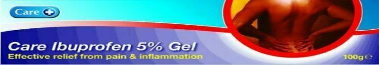 Care+ Ibuprofen 5% Gel - 100gm