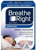 Breathe Right Original Nasal Strips (Tan) - 30 SM/MED Strips