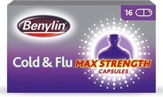 Benylin Cold & Flu Max Strength Capsules - 16 Capsules