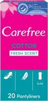 Carefree Cotton Fresh Scent Pantyliners - 20 Pcs.
