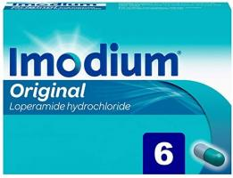 Imodium Original Loperamide Hydrochloride Capsules - 6 Capsules