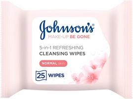 Johnson's Make-up Be Gone Cleansing Wipes - 25 Wipes (Refreshing)