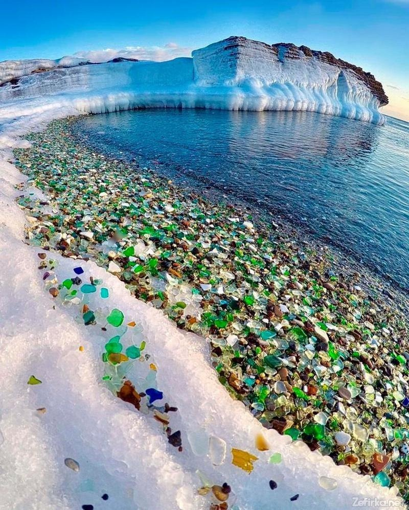 Glass Beach on Ussuri Bay